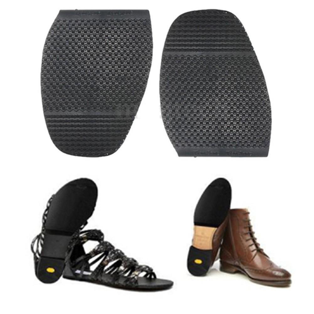 1Pair Men/'s Rubber Glue On Half Soles Shoes Anti Slip Grip Pads Repair Supplies