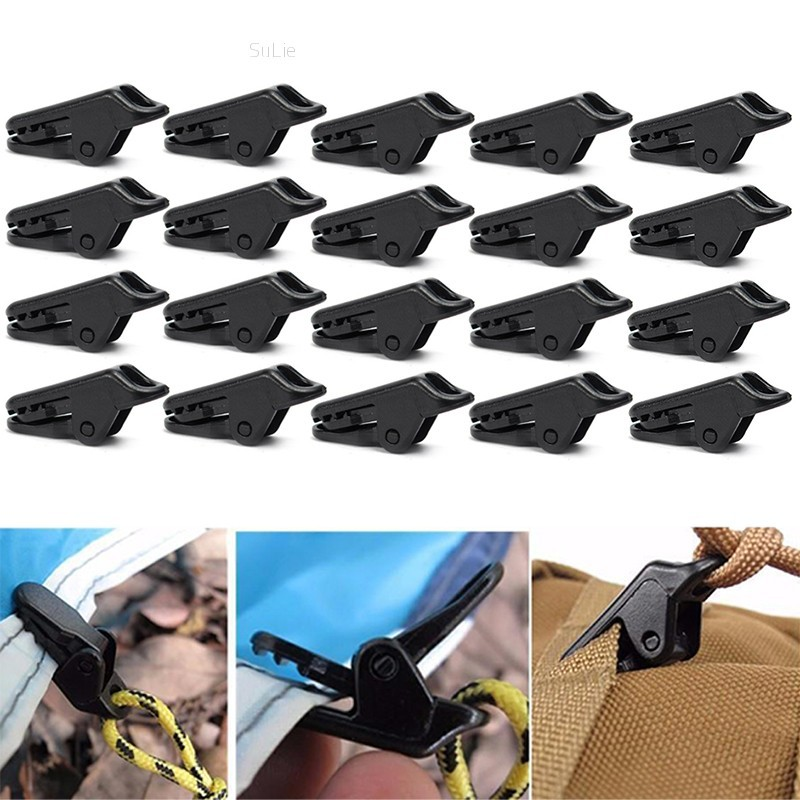 5//10X Awning Clamp Tarp Clips Snap Hangers Tent Camping Survival Tighten Tool ZX