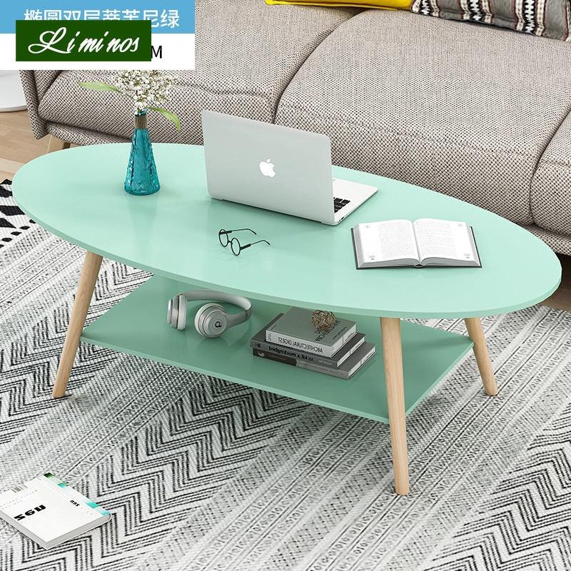 Oval Shape Wooden Coffee Table Living Room Table Shopee Singapore