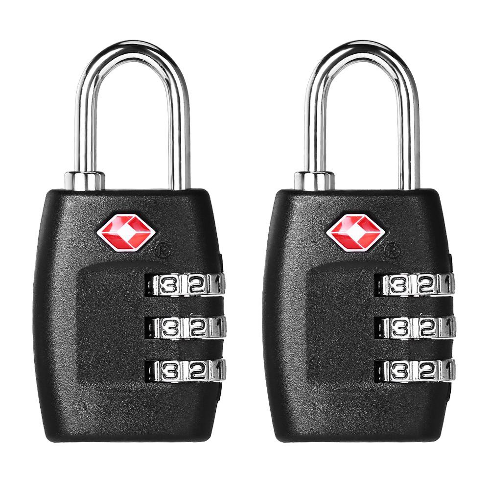 Locks Travel Enthusiastic 3xtsa Approve 3 Digit Combination Travel Suitcase Luggage Bag Lock Padlock Reset At Any Cost