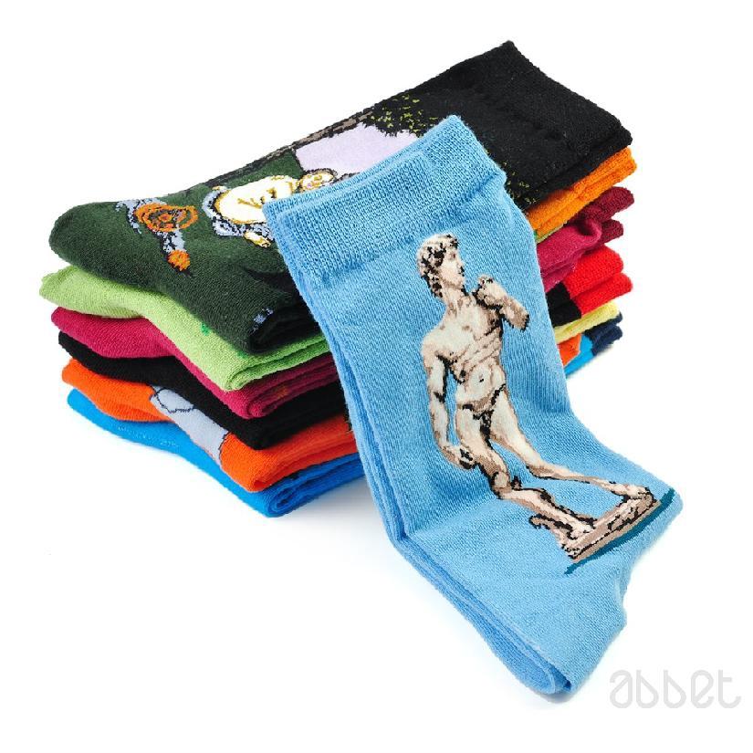 Funny Artistic Painting Socks Artist Series Famous Men Unisex Novelty Warm Socks