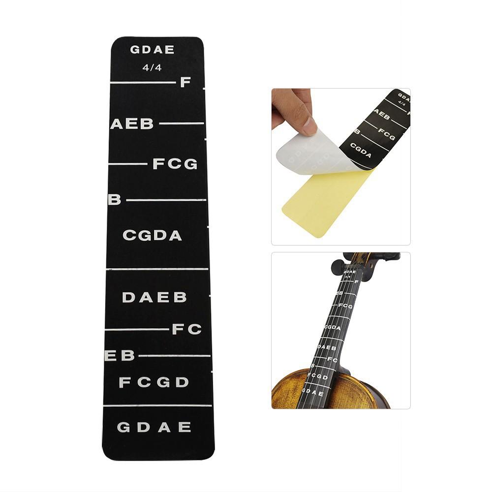 Energetic Violin Fiddle Fingerboard Chord Note Sticker Fret Marker Label For Beginner Musical Instruments