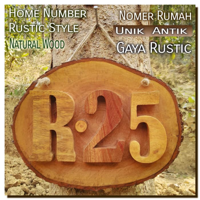 Home Number Style 01 Wooden House Number Unique Wooden House Number No Acrylic Shopee Singapore
