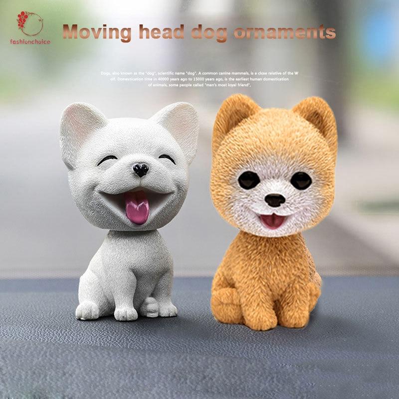 Shaking Head Dog Ornament Resin Cute