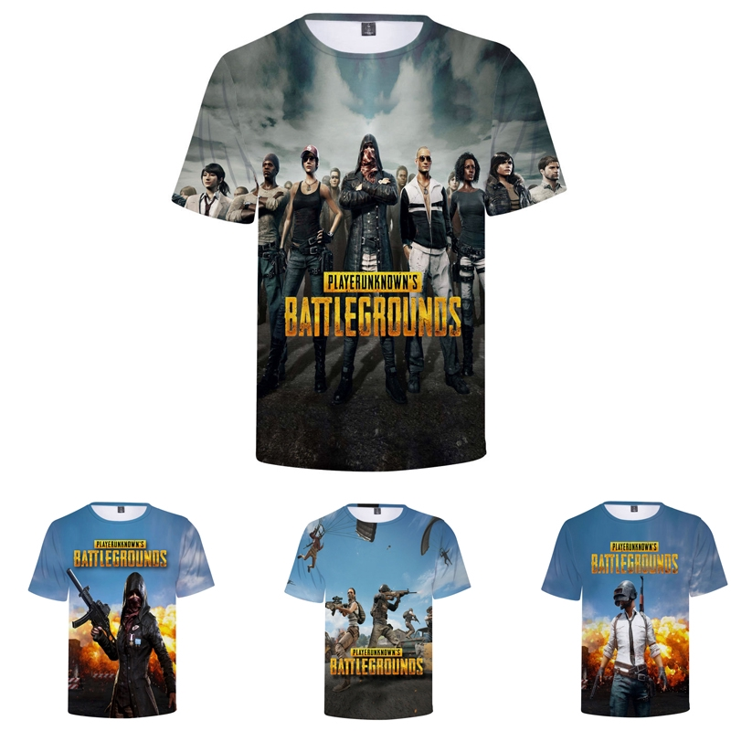 9f644767 Men's Summer PUBG Playerunknown's battlegrounds Short Sleeve T-Shirt Top  Tees | Shopee Singapore