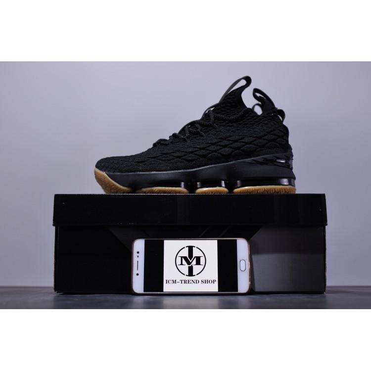 new product 47cb0 a6026 new arrive nike air flyknit lebron james15 lbj15 XV basketball shoe triple  black   Shopee Singapore