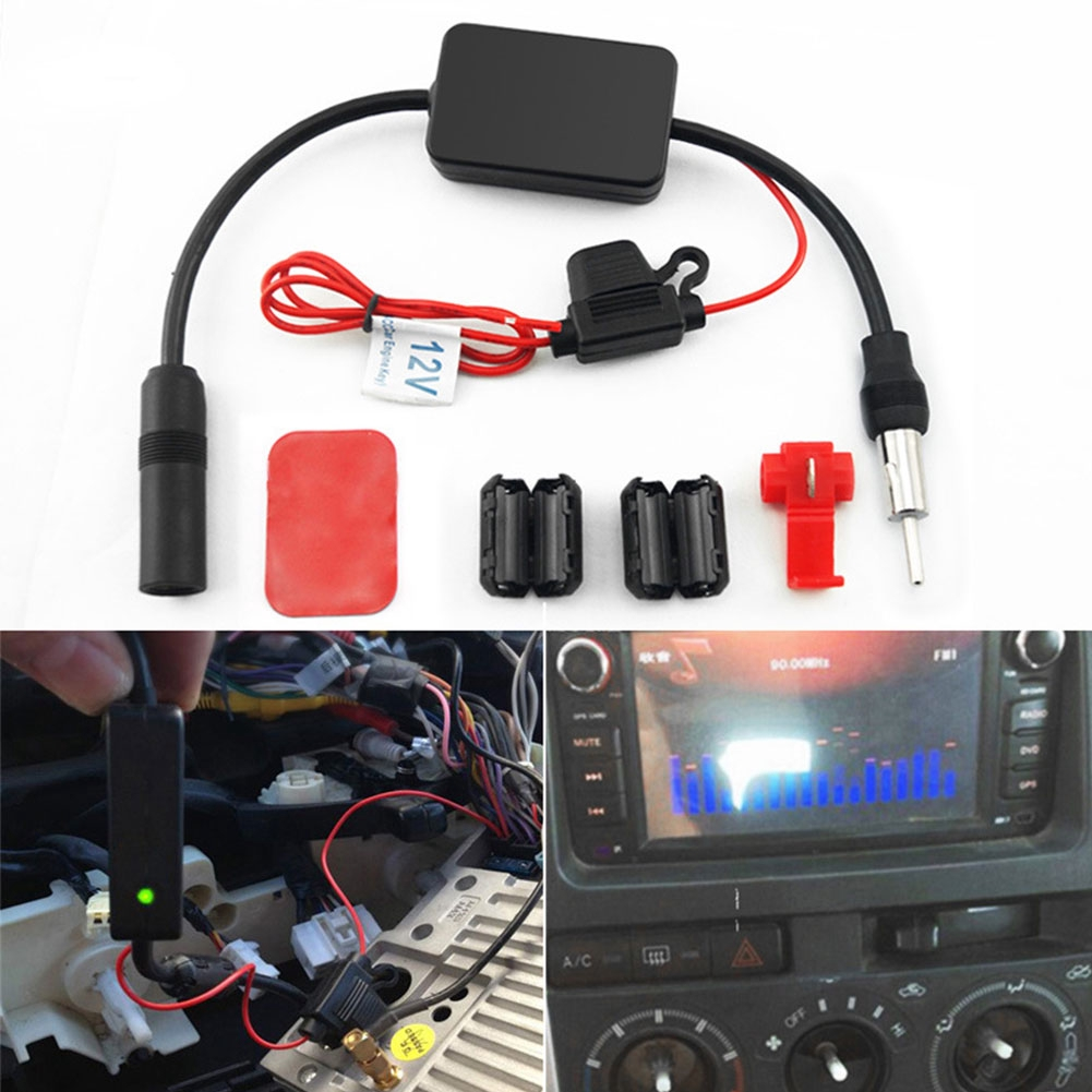 Durable Car Stereo AM/FM Radio Signal Antenna Aerial Amplifier Inline  Booster