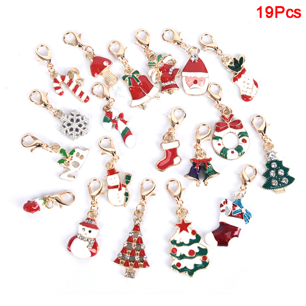 Trendy Christmas Tree Pendant Lobster Clasp Key Ring Chain Hanging Ornament