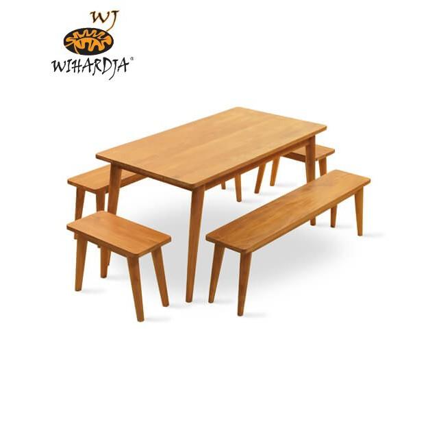Simple Minimalist Solid Teak Wood Wyatt Dining Table Scandinavian Living Room Shopee Singapore