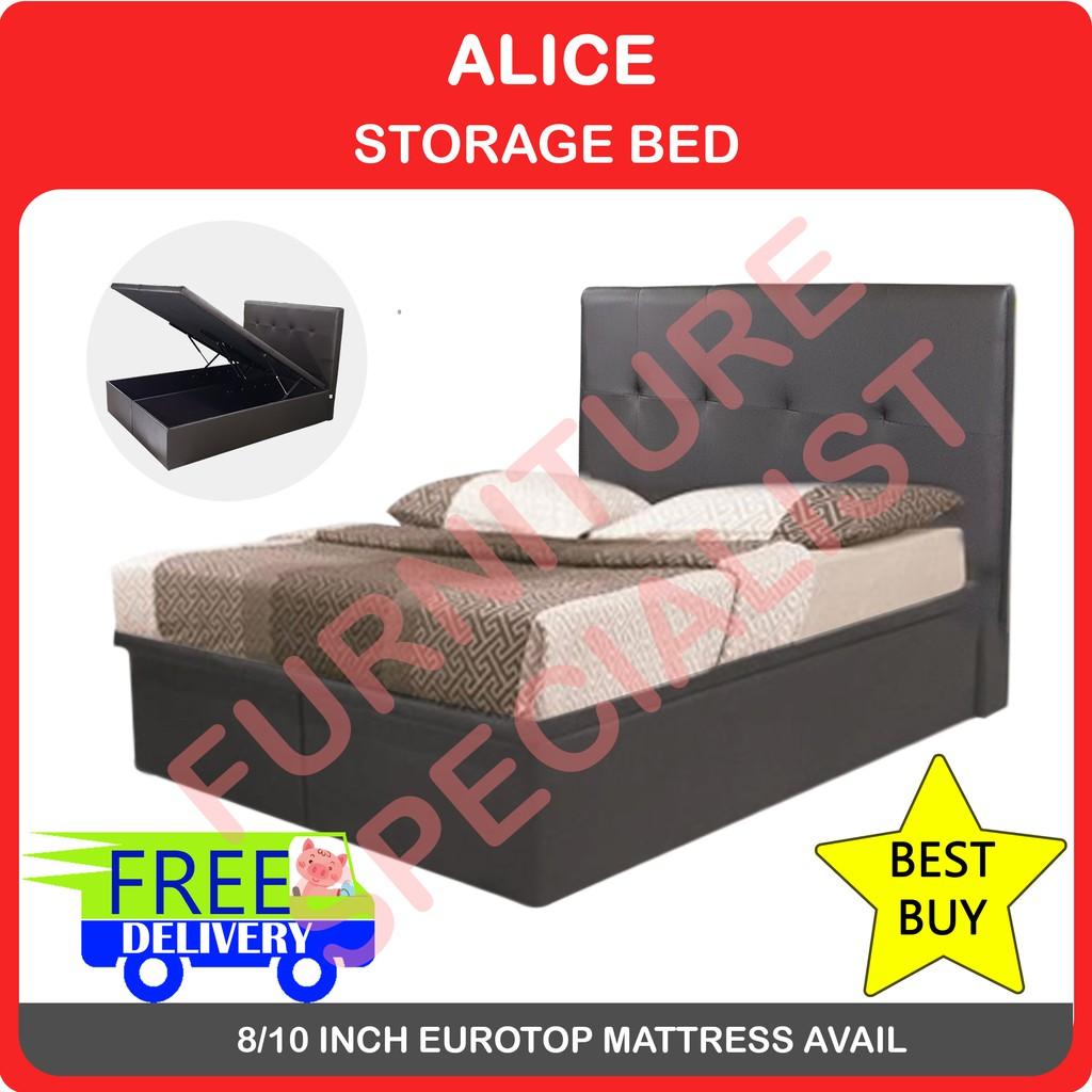 Image result for alice storage bed shopee.sg