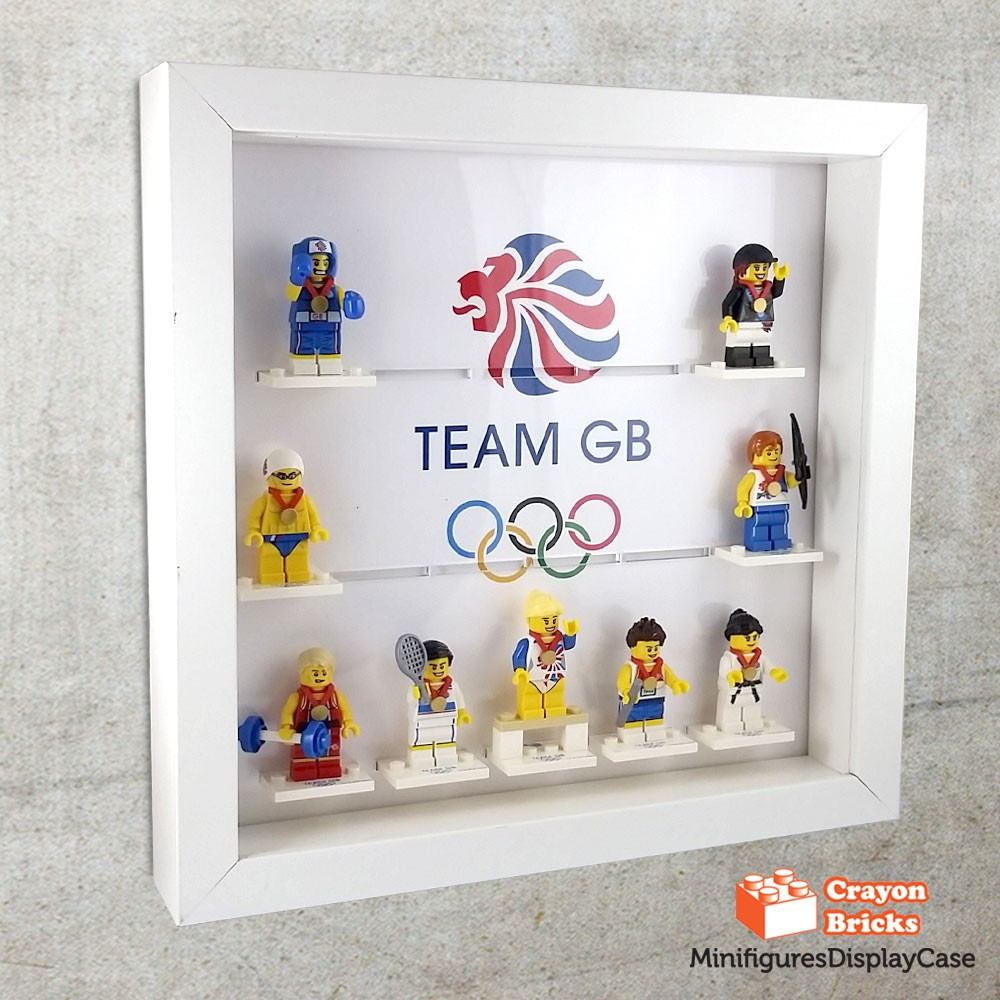 LEGO Team GB 8909 Minifigures Display (IKEA Ribba Frame not included ...