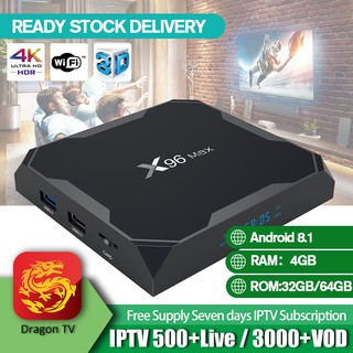 Android IPTV Box 2-Year Dragon TV Southeast Astro IPTV 500+Live TV