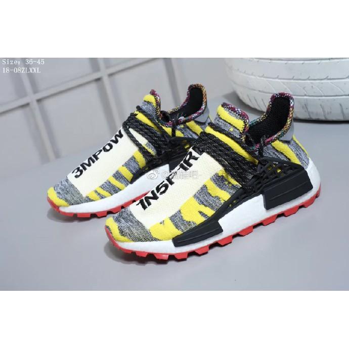 "da57bae9a5cb9 Brand Discount Fashion Sale ReadyStock🔥Pharrell x Adidas NMD Hu ""Solar  Pack """