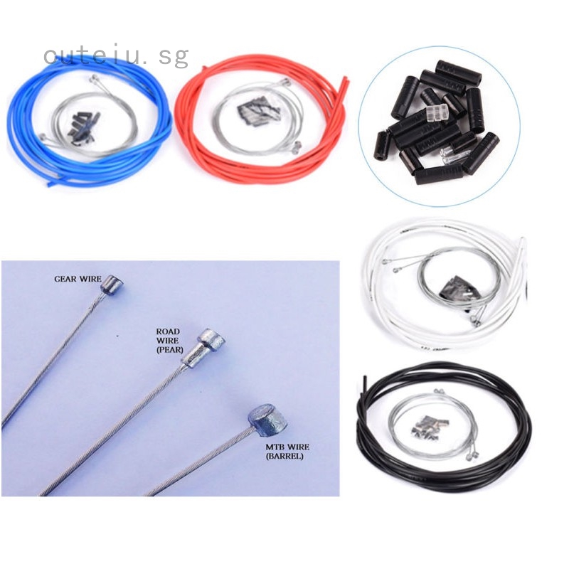 Bike Bicycle Complete Front /& Rear Wire Gear Brake Cable Set for Mountain Bikes