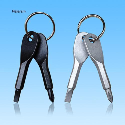 EDC Mult  Mini Pocket Tactical Folding Plier Keychain Screwdriver Compass