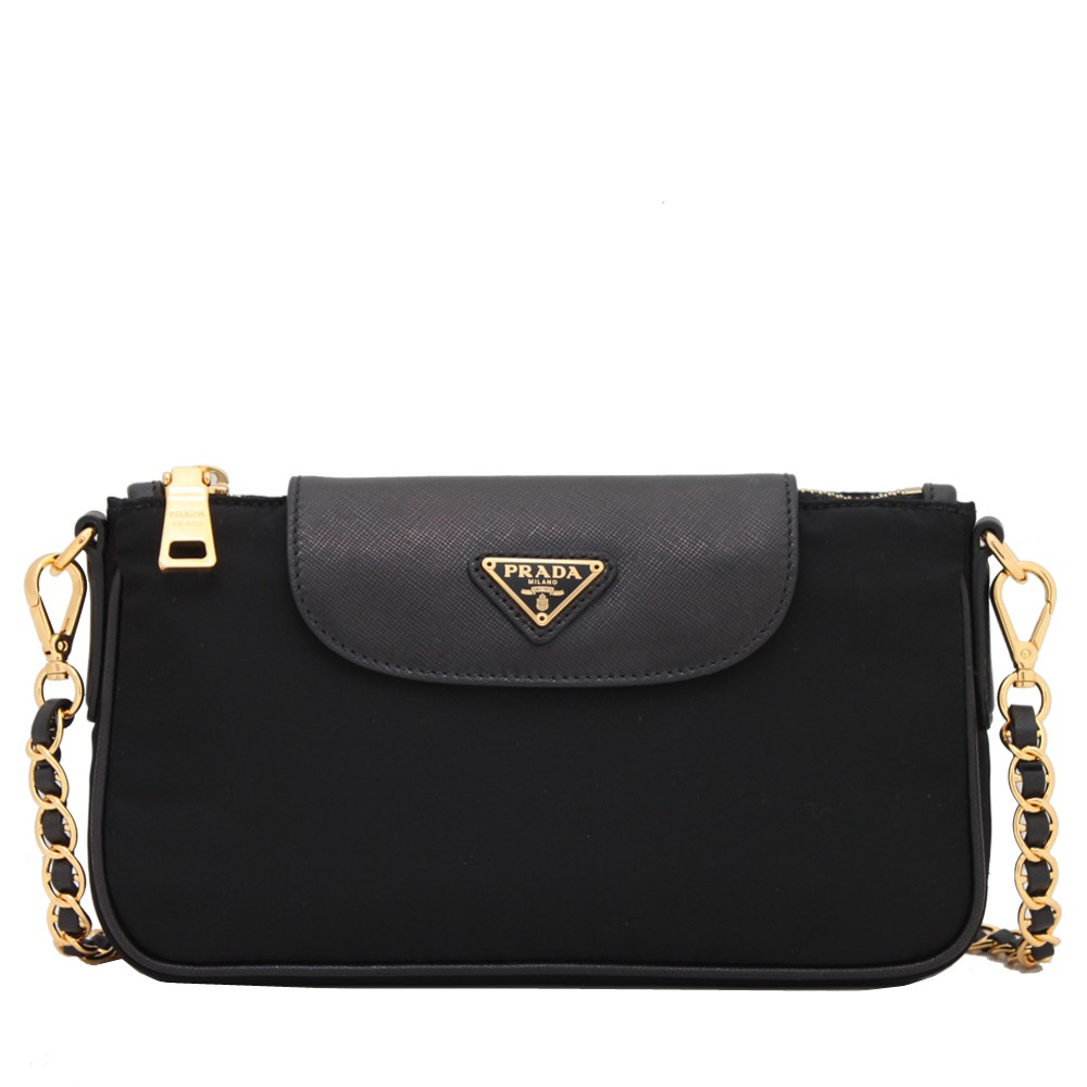 5f201783d032 Prada BT0779 Tessuto Nylon Convertible Clutch Sling Bag- Black | Shopee  Singapore
