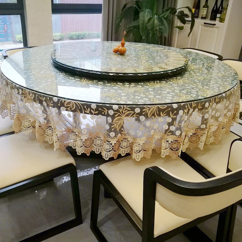 Pastoral Large Dining Table Cloth Turntable Round Cover Cloth Coffee Table Table Cloth Translucent Girl Bedside Table Cl Shopee Singapore