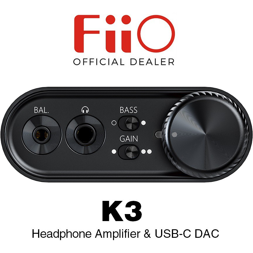 FiiO K3 Desktop Headphone Amplifier & USB-C DAC | Shopee