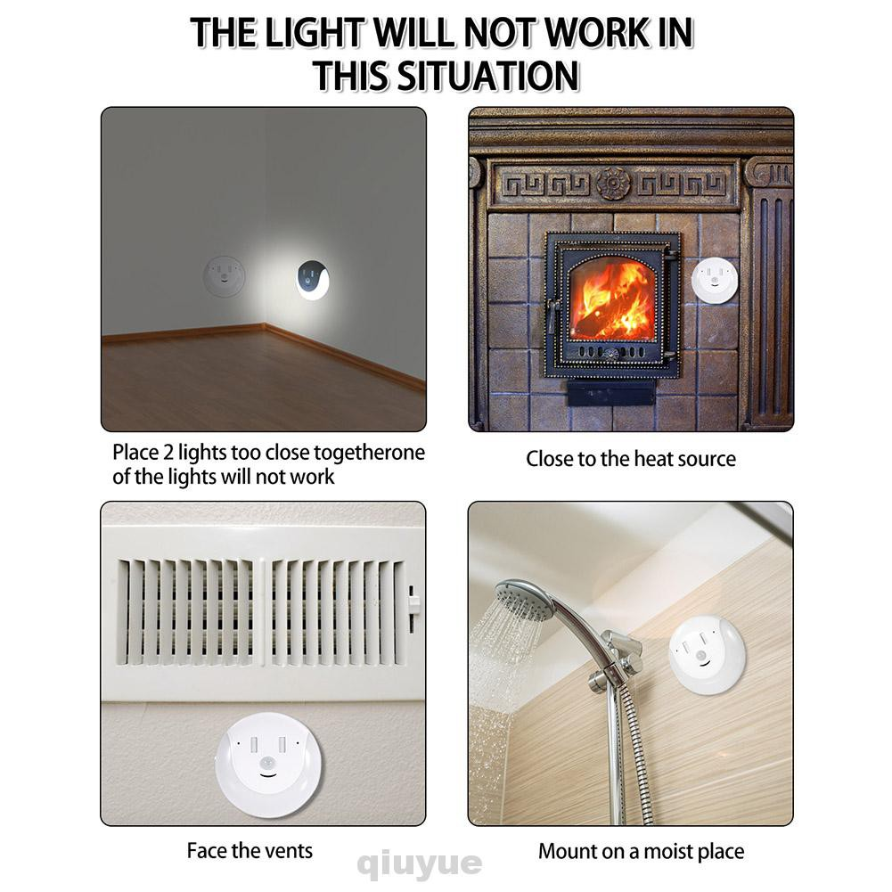 Wall Home Bedroom Intelligent Kitchen Usb Rechargeable Easy Install Led Night Light Shopee Singapore