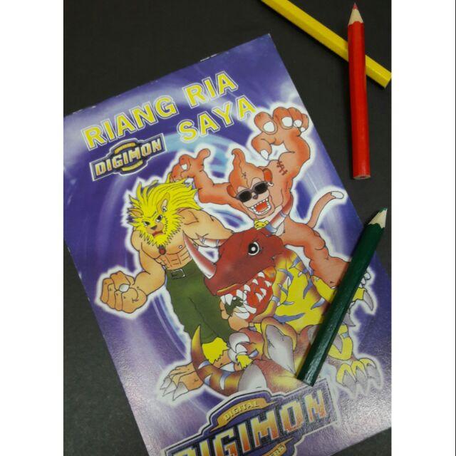 Buku Mewarna Digimon Untuk Kanak Kanak Shopee Singapore