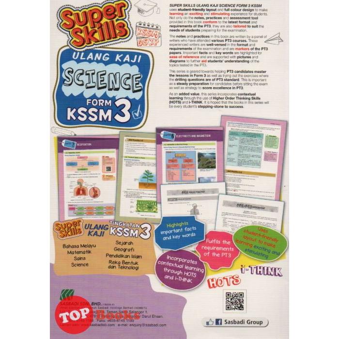 Topbooks Super Skills Ulang Kaji Science Kssm Form 3 Sasbadi Shopee Singapore