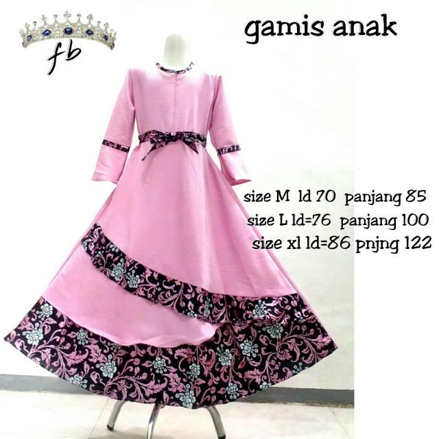 Gamis Batik Anak Batik Children Dress Muslim Clothing Batik Muslim Children S Suits Shopee Singapore