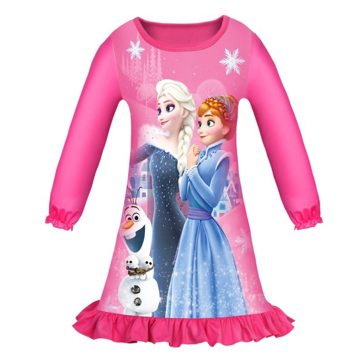 NEW Frozen Elsa Figure 2pcs Olaf Pajamas Movie Outfit Princess Girls 2 3 Toddler
