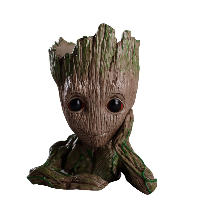 Cheap Sale 8pcs Cartoon Marvel Hero Guardians Of The Galaxy Groot Pencil Topper Caps School Supplies Stationery Party Favors Gifts Soft And Antislippery Stationery Set