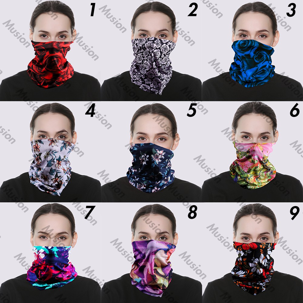 Sports Anti-uv Face Mask Earloop Triangle Skull Flag Windproof Magic Cycling Ski Scarf c