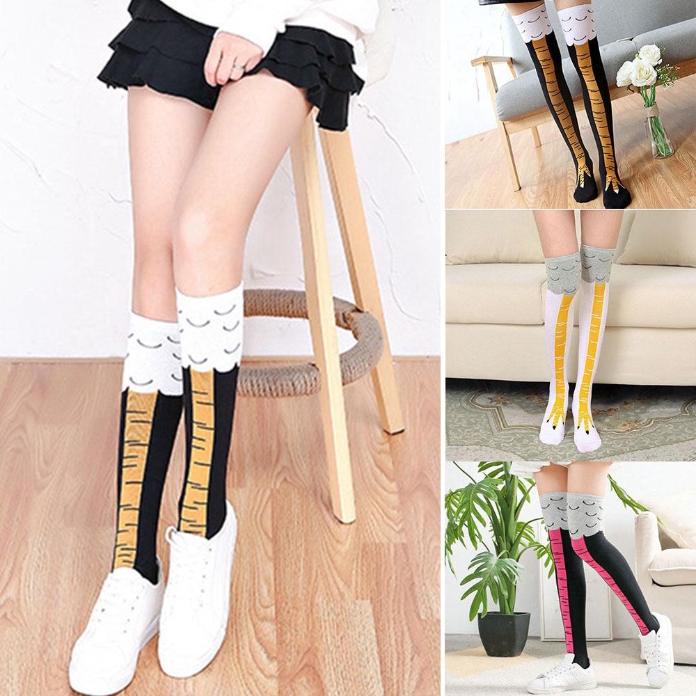 Women/'s Chicken Foot Socks Leg//Knee Socks 3D Chicken Socks Performance Stockings