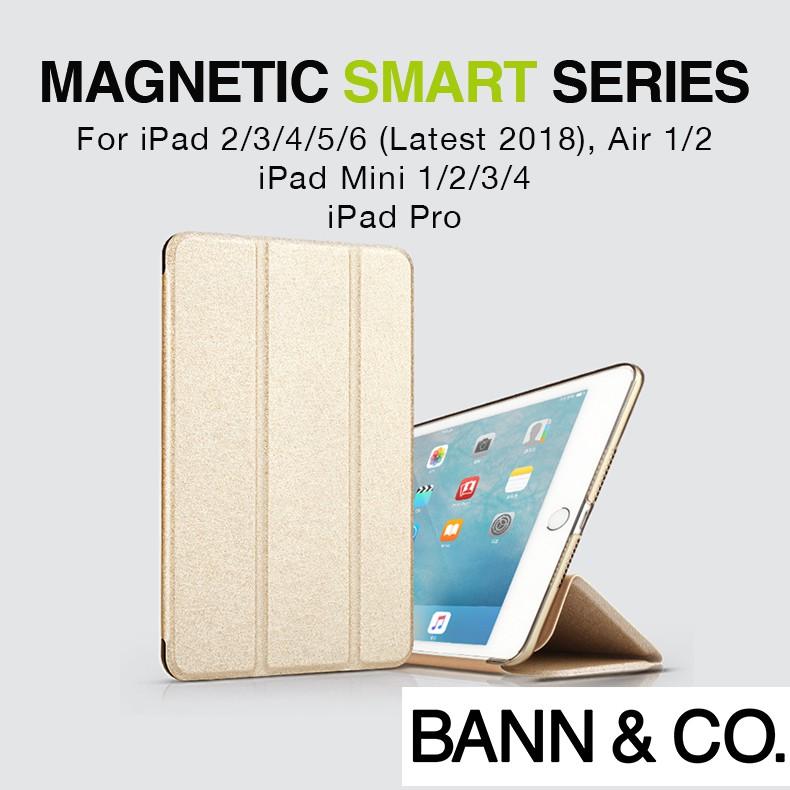 iPad 6/5/4/3/2/Air/Air 2/Air 3 Magnetic Smart Case (NEW: 2019 Model)