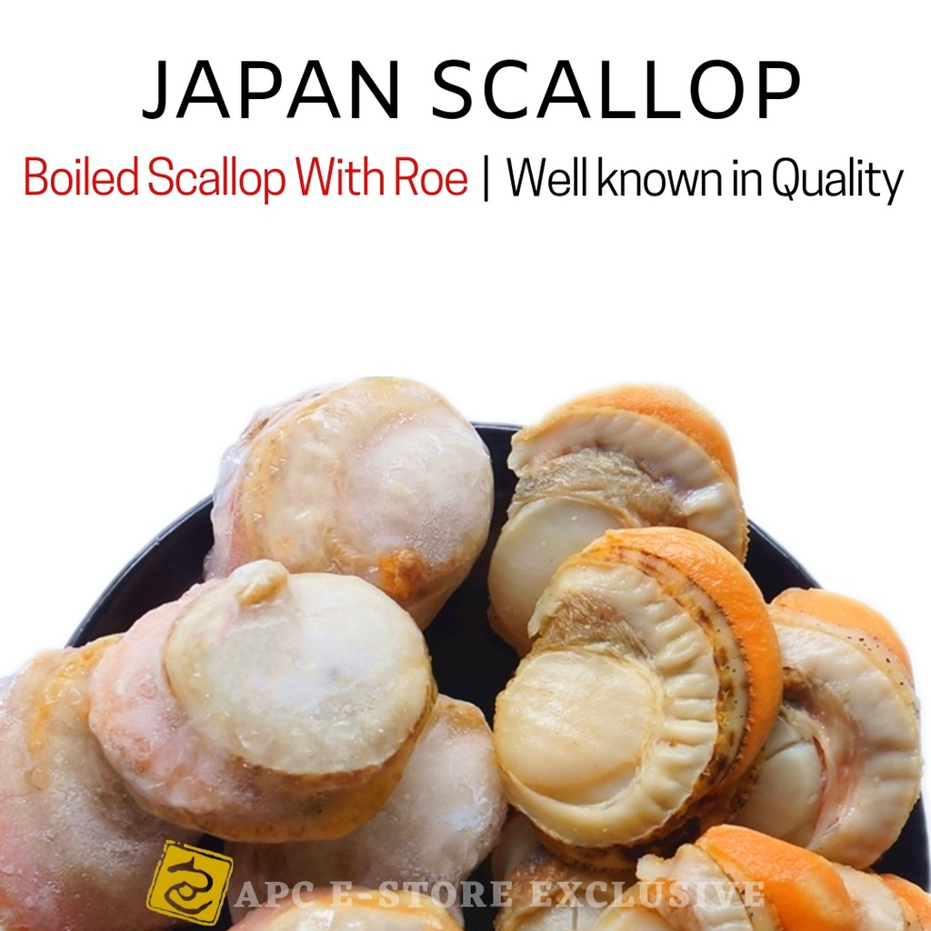 JAPAN BOILED SCALLOP WITH ROE 1 KG