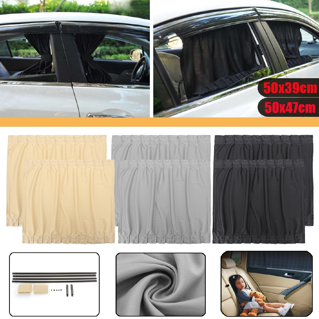 4X Car Auto UV Protection Sun Shade Curtains Side Window Visor Mesh Cover Shield