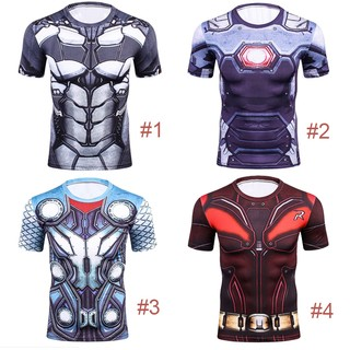 Tony Stark Iron Man Marvel Cosplay Shirt 3D Print T Shirt
