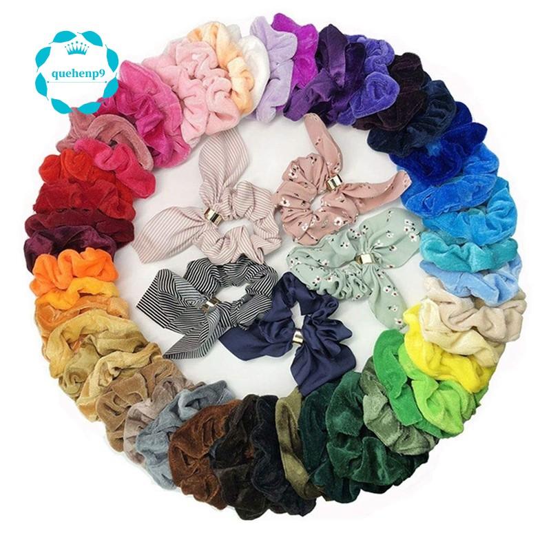 50PCS Girls Elastic Hair Ties Band Rope Scrunchie Ponytail Holder Headwear Hot