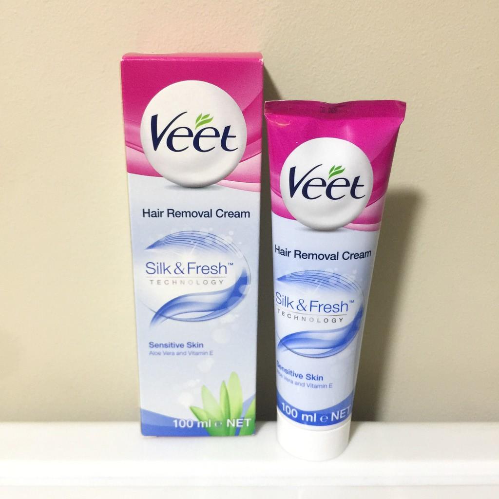 Veet Silk Fresh Hair Removal Cream For Sensitive Skin 100ml Shopee Singapore