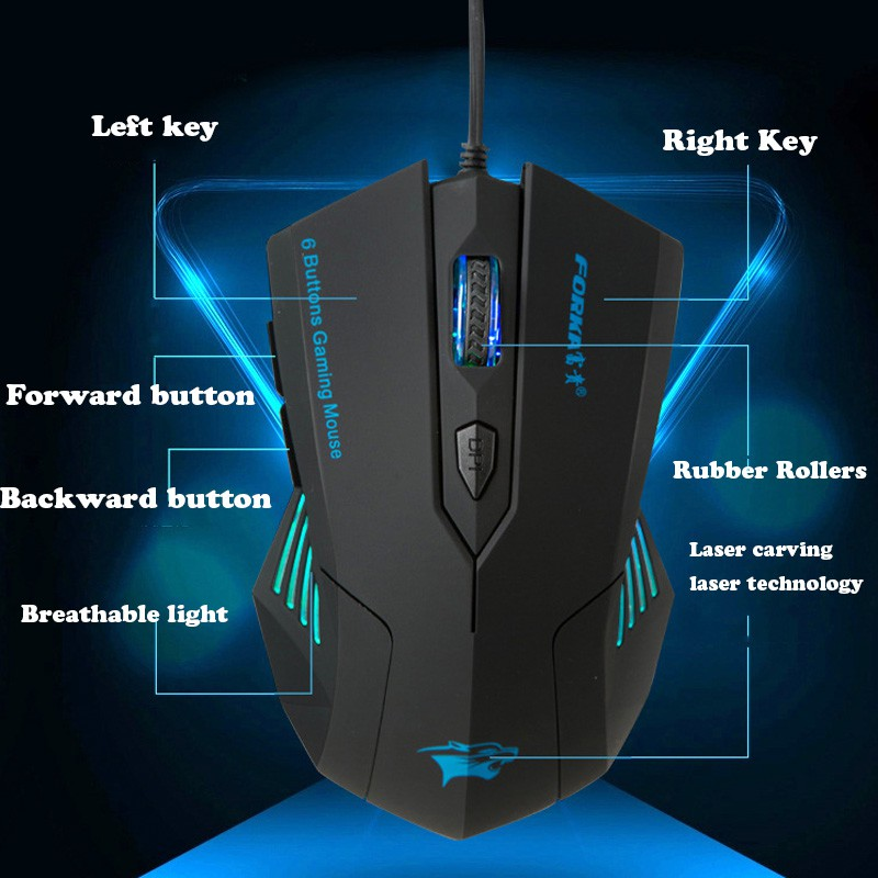47a9bc2c0 Silent Click 6 Buttons Wired Gaming Mouse USB Mute LED Optical Cable  Ergonomic Computer Mouse Mice for PC Laptop Gamer | Shopee Singapore