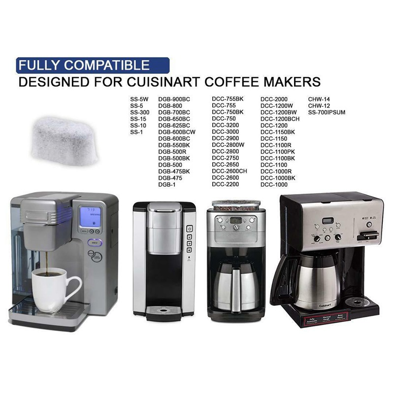 24 Pack Water Filters For All Cuisinart Coffee Makers Dcc Rwf Shopee Singapore