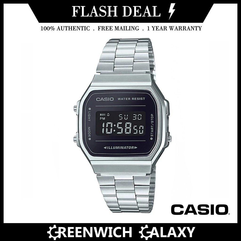 Harga Jual Casio Protrek Prw 3000 1dr Waveceptor Terbaru 2018 3100y Jam Tangan Pria Hitam Authentic Vintage Black X Gold Watch A168wegb 1be Shopee Singapore