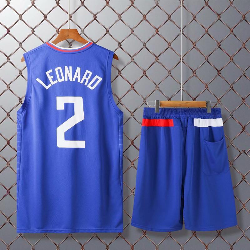 FILWS Basketball Jerseys Kawhi Leonard Childrens Basketball Uniform Set Men And Women Childrens Training Wear Sweat-absorbent Breathable Fan Sweatshirt