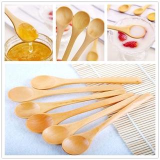 5pcs Set Environmental Bamboo Wooden Spoons Kitchen Utensils For Dessert Honey