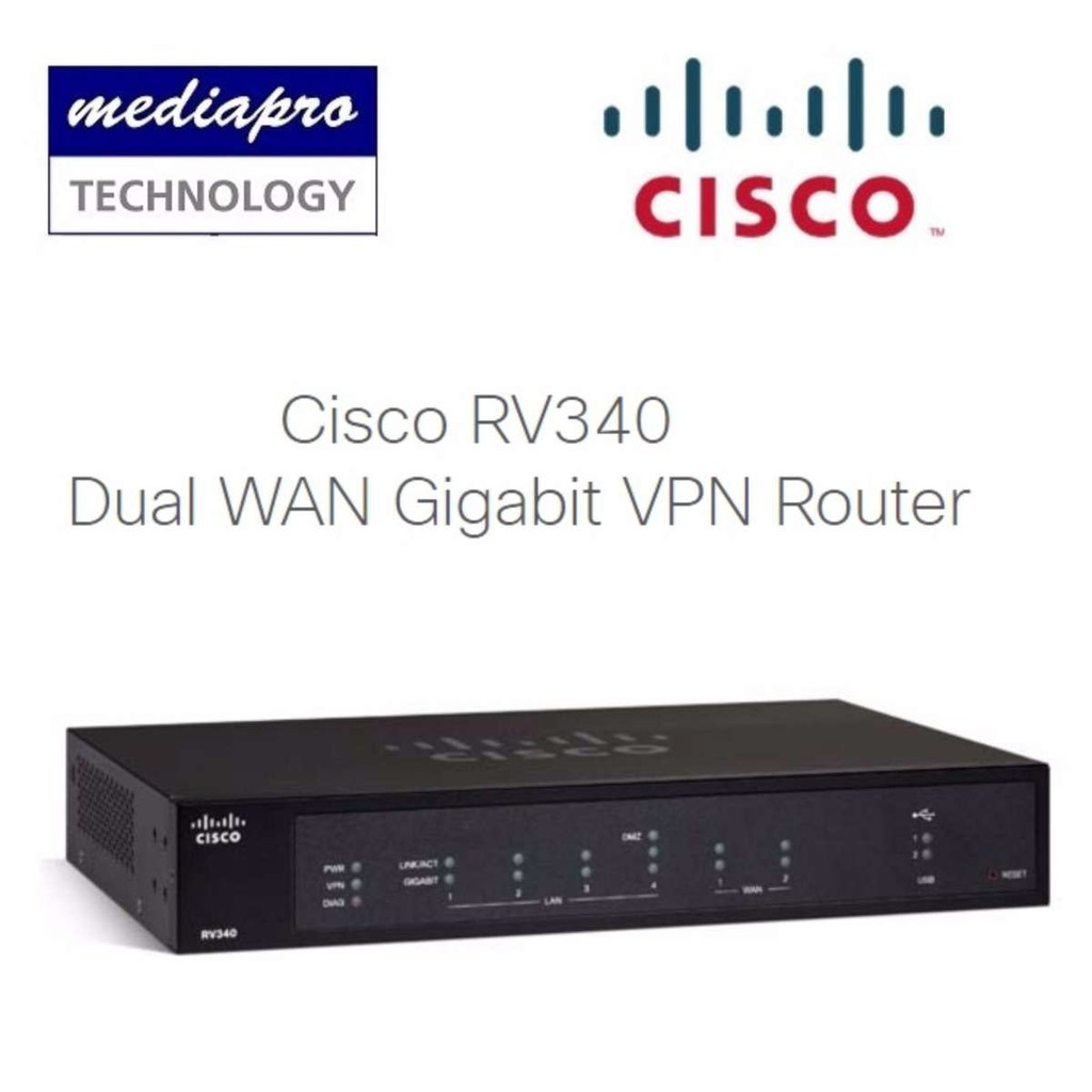 CISCO RV340 Dual WAN Gigabit VPN Router - Local Limited Life Time Warranty