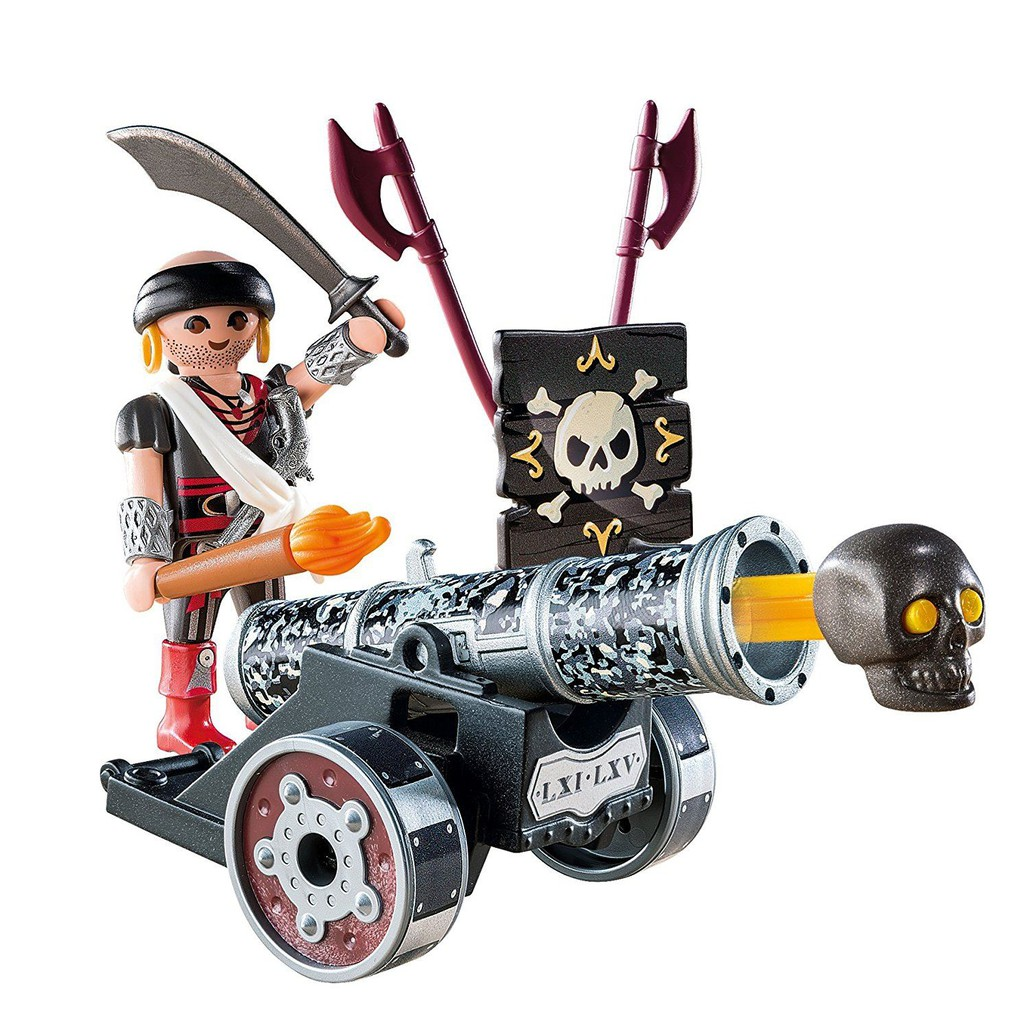 Playmobil YE-7 Pirates Interactive Cannons /& Projectile 6165 Black