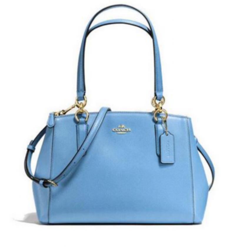 a192e056e4115 Coach Signature Mini Christie Carryall Crossbody Bag F36637 Bluejay ...