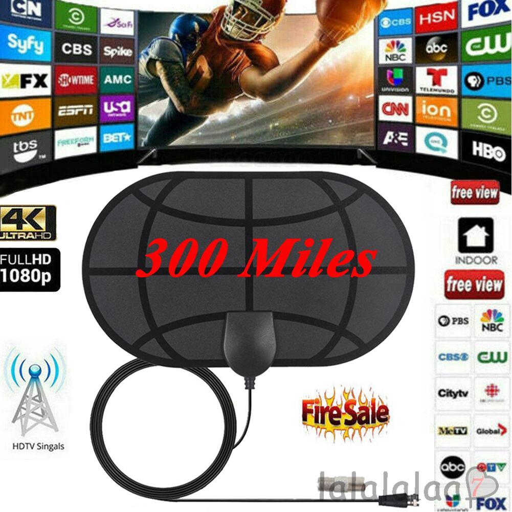 100 Mile HDTV 1080p Outdoor Amplified HD TV Antenna Digital UHF//VHF FM Radio BT