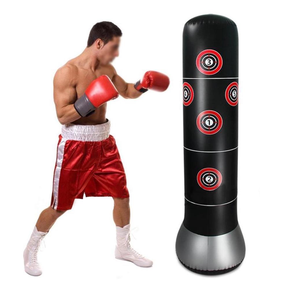 54e94a23e Boxing Column Punch Bag Tumbler Sandbags Agility Stability Children Adult  Black   Shopee Singapore