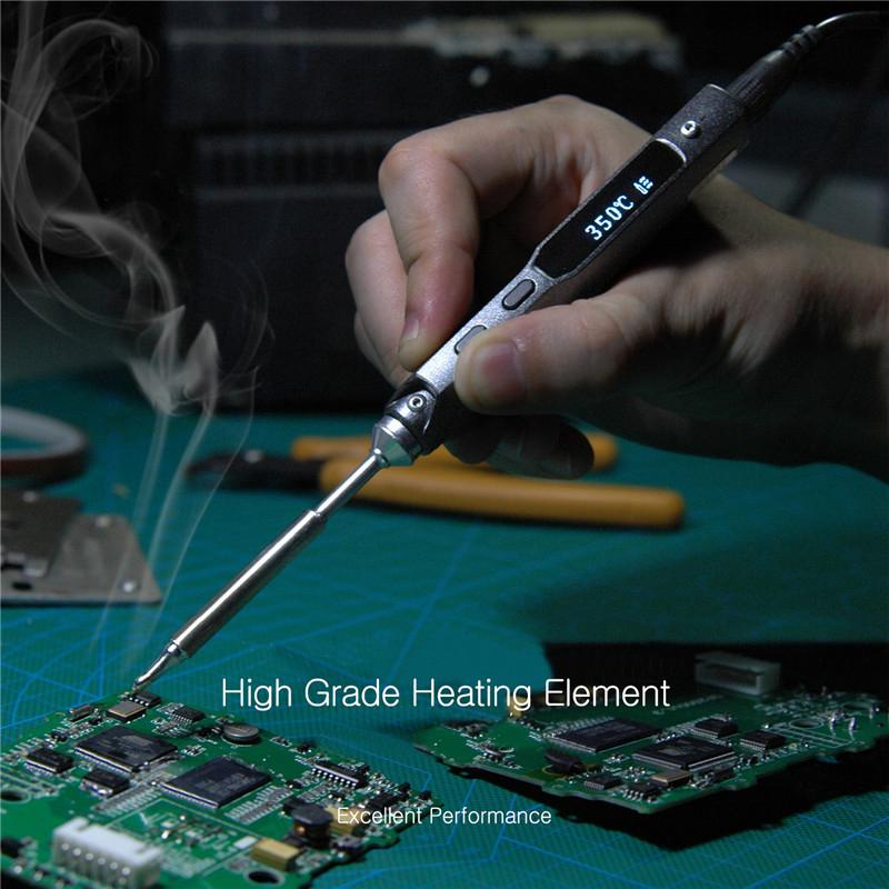 TS100 Digital OLED Programable Interface Soldering Iron