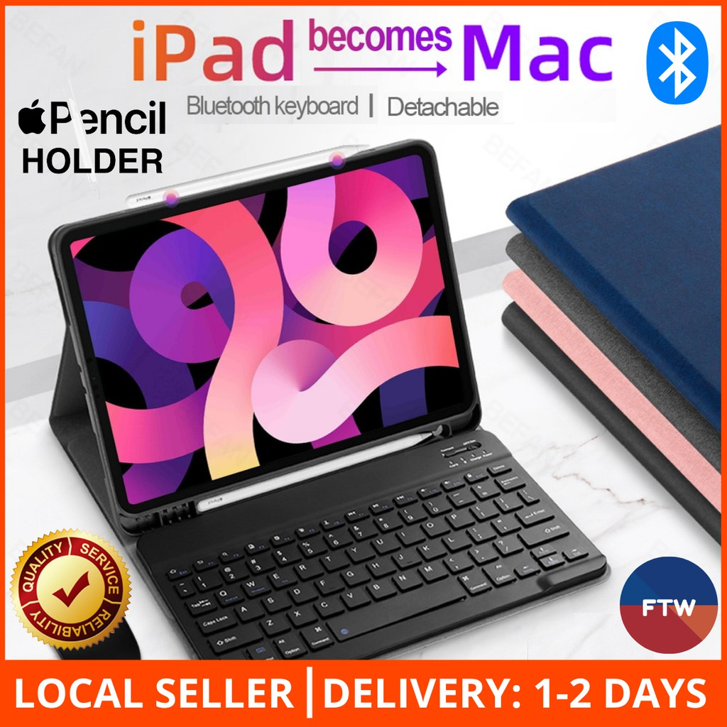 1-2 DAY SG DELIVERY! iPad Keyboard Folio Case With Apple ...