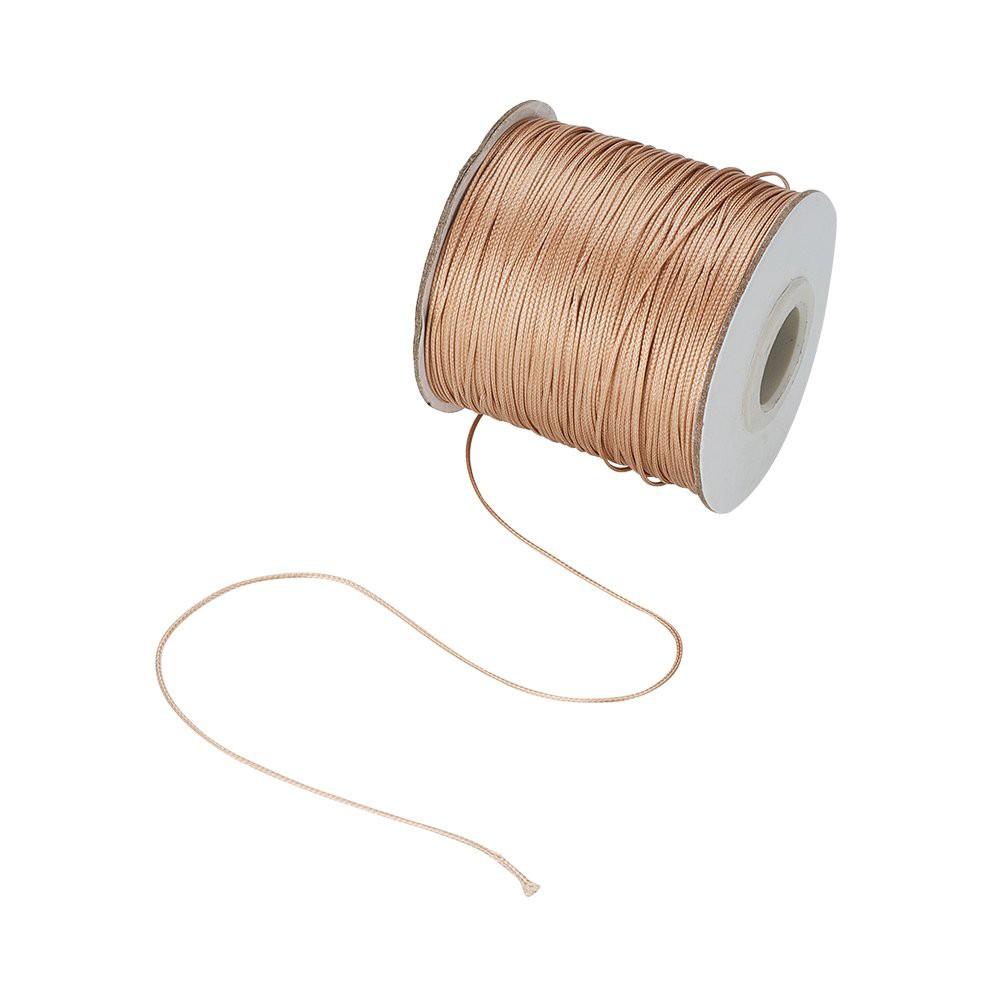 10M 0.8mm Waxed Cotton Cord Thread DIY Beading Jewelry Sew Leathercraft Black