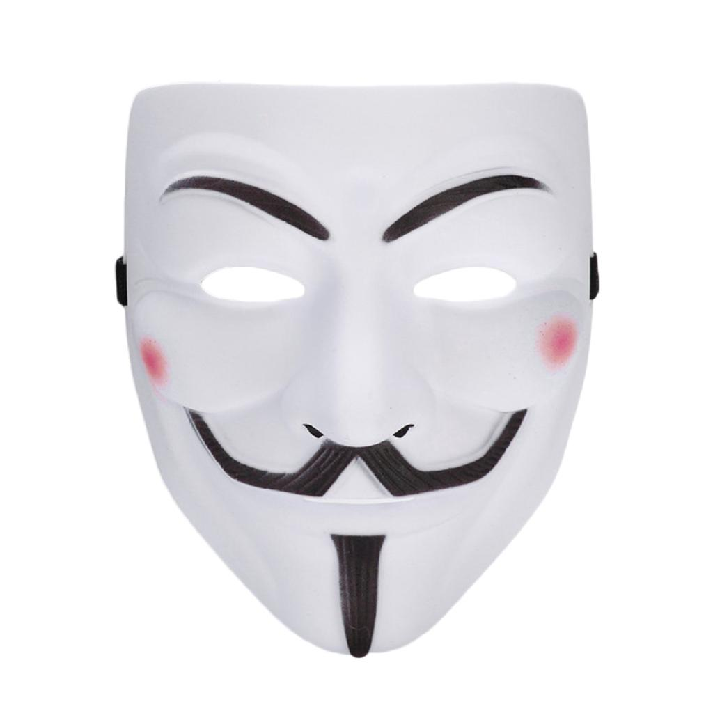 10pcs V For Vendetta Mask Guy Fawkes Anonymous Masks Party Cosplay White
